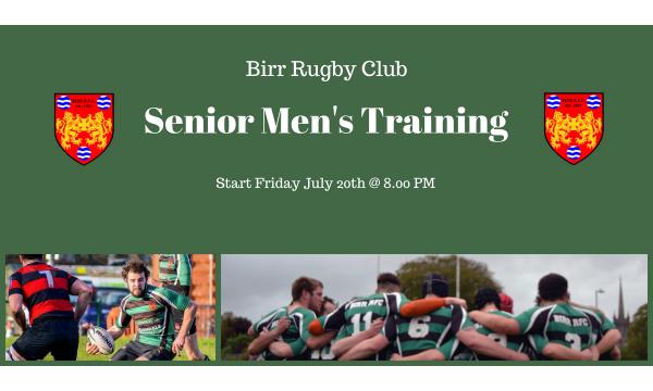 Senior Men's Training For The 2018/19 Season