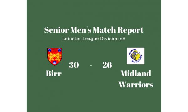 Birr 1st XV Defeat Midland Warriors