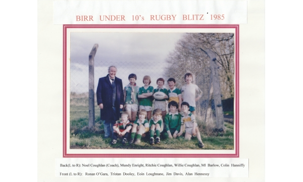 The talented Birr RFC U10s who won the inaugural Kettle Cup in 1985