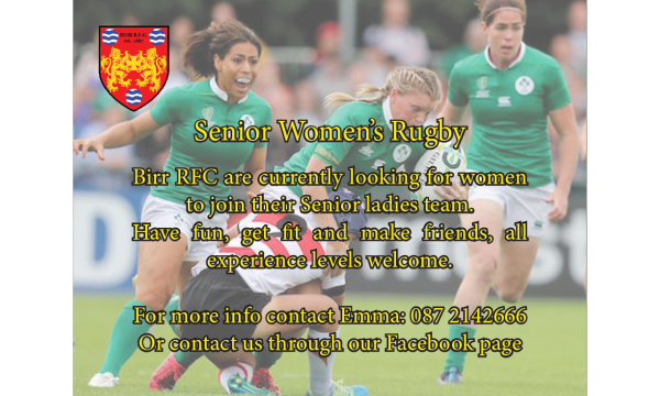 Senior Women's Rugby Starting This Friday