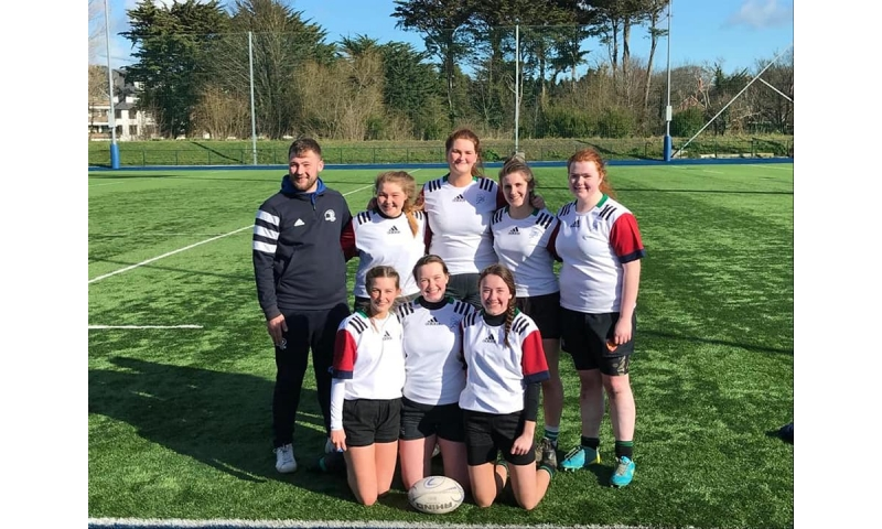 birr-rfc-u18s-players-on-the-midlands-squad.-back-l-r-denis-rusu-coach-kate-o-aomeara-emer-hogan-clare-murphy-aoife-guinan-front-l-r-danielle-loughnane-saoirse-regan-and-aoibhinn-bergin
