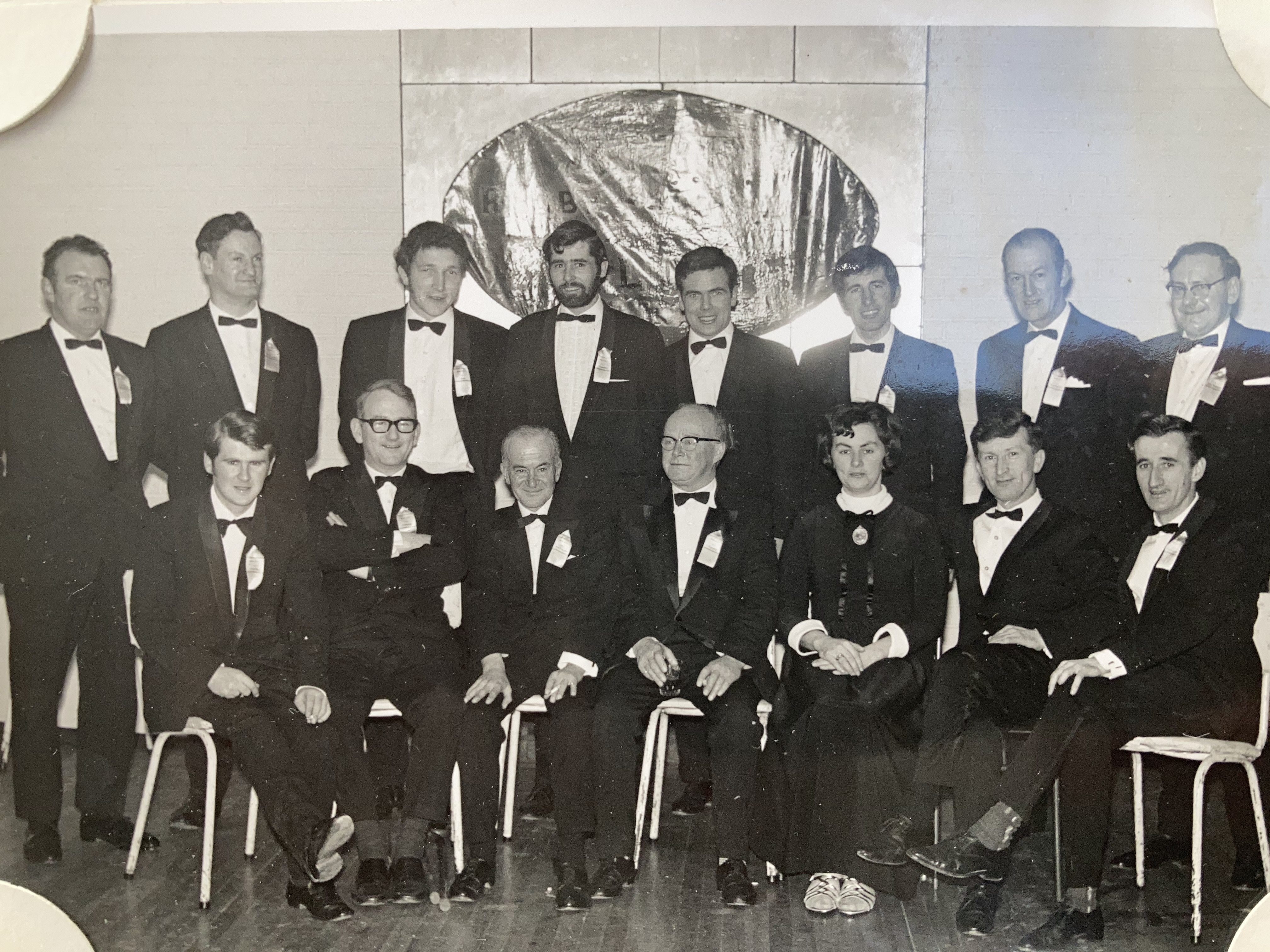 1968 Club Office and Committee at Annual Dinner in Dooly's Hotel